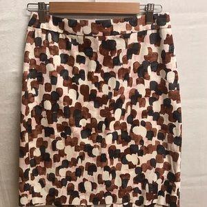 J. Crew patterned skirt-size 2-like new!